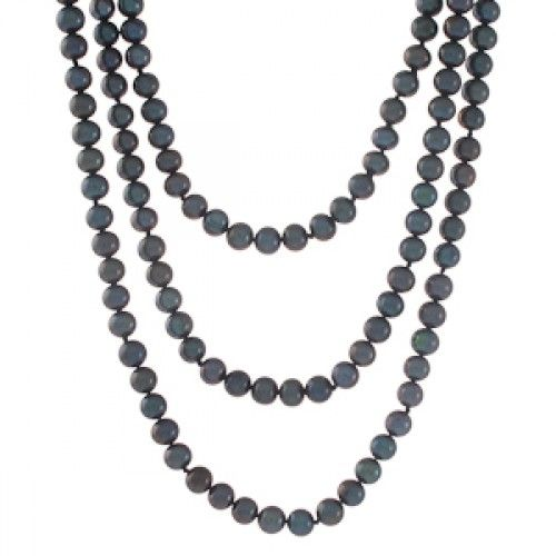 An opera length strand of black freshwater pearls. #Rutherford #Melbourne