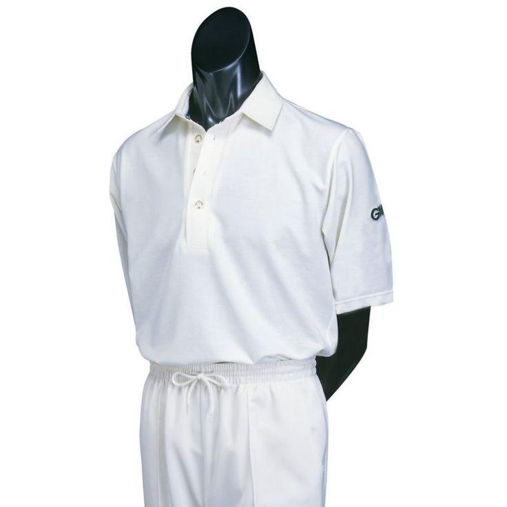(Large Boys Light Cream) - Gunn & Moore Short Sleeve Cricket Shirt. Brand New