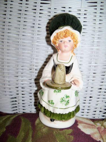 "Vintage Schmid ""St Patrick's Day"" Lady Girl Figurine Pincushion Thimble Holder   eBay /  Mar 07, 2014 / US $24.99"