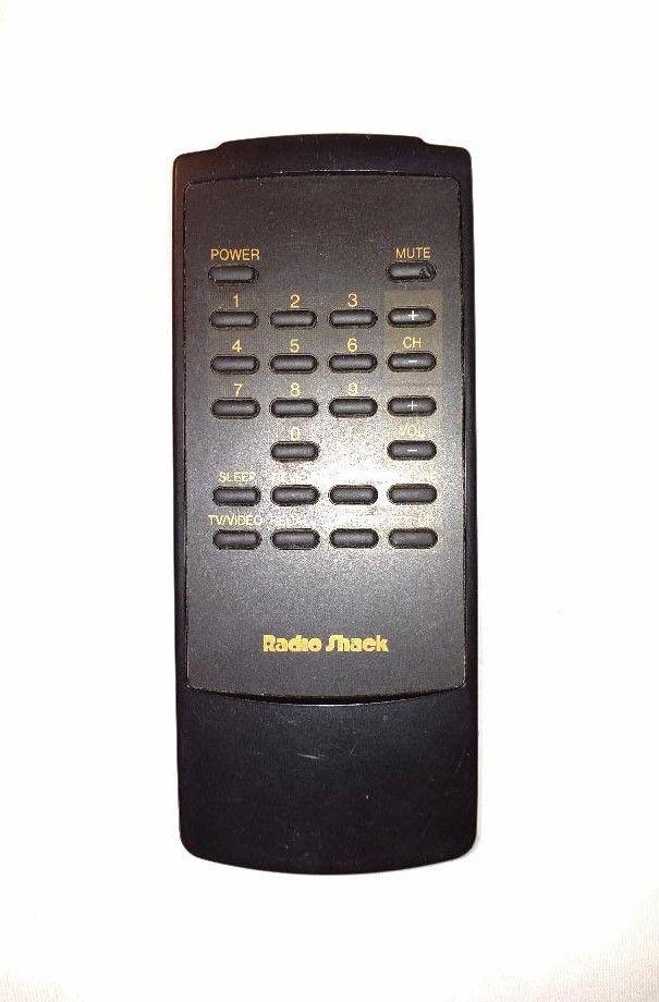 Radio Shack Tv Remote Control Model 105 095 Q Black Tested Working Oem Remote Control Tv Remote Tv Remote Controls