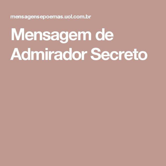 Mensagem de Admirador Secreto