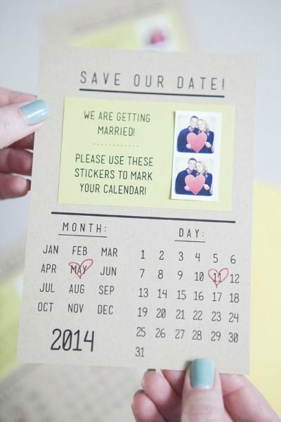 save the date DIY.