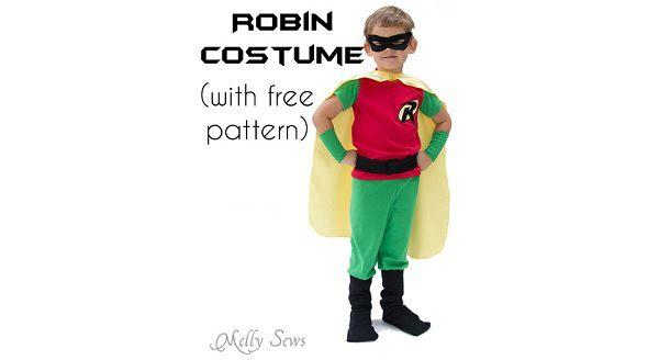 Free pattern: Kids Batman and Robin Halloween costumes