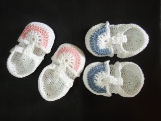 Crochet Pattern for Baby Shoes ~ Free Crochet Patterns