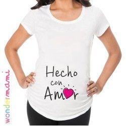 """Camiseta embarazada """"Hecho con Amor"""""""
