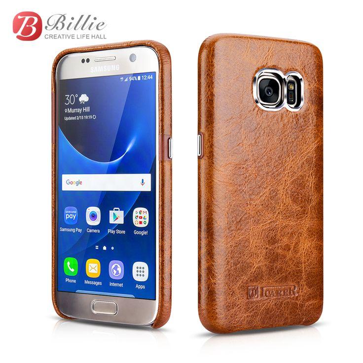 Масло Воск Старинные Натуральная Кожа Для Samsung Galaxy S7 крышка Масло воск назад Для Samsung Galaxy S 7 Случай 2016 Мода Задняя крышка