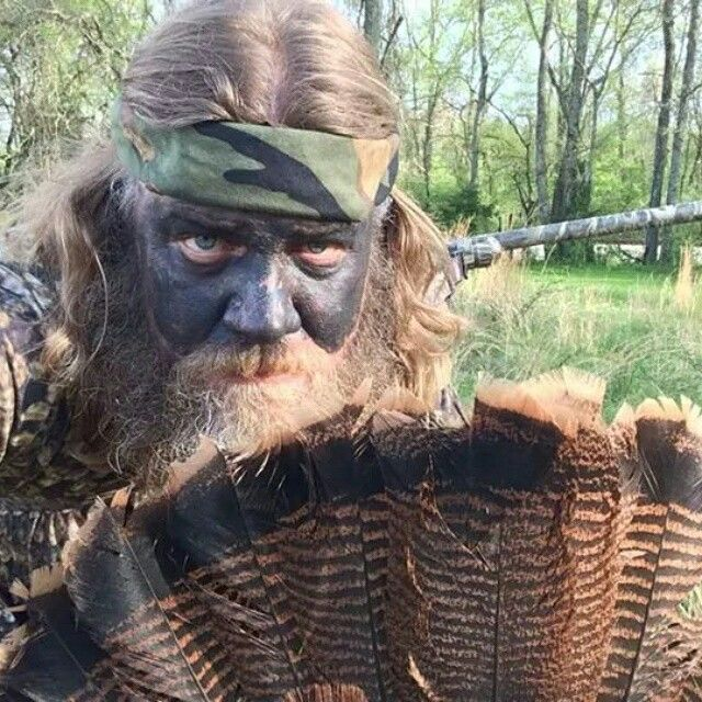 Turkey Hunting with Natural Camo Face Paint