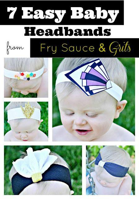7 Easy Baby Headbands Fry Sauce and Grits #DIY #headbands #baby
