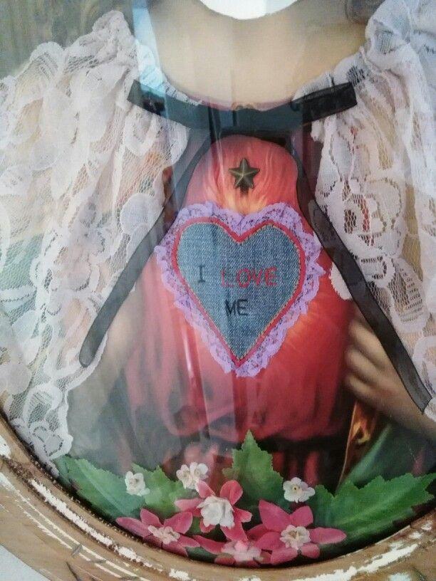 San Yo (detalle). Espejo decorado. 48X62cm