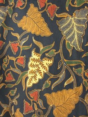 Textiil - Solo Sogan #Batik - Leaves.  Available by the meter at Textiil.com