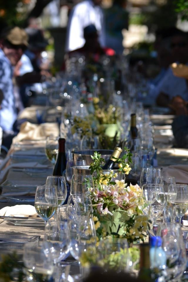Beautiful long table of the #farm2table lunch.