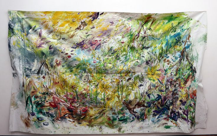 "Shinobu Hanazawa ""Heavenly"" 2014 oil on canvas 178×300cm"