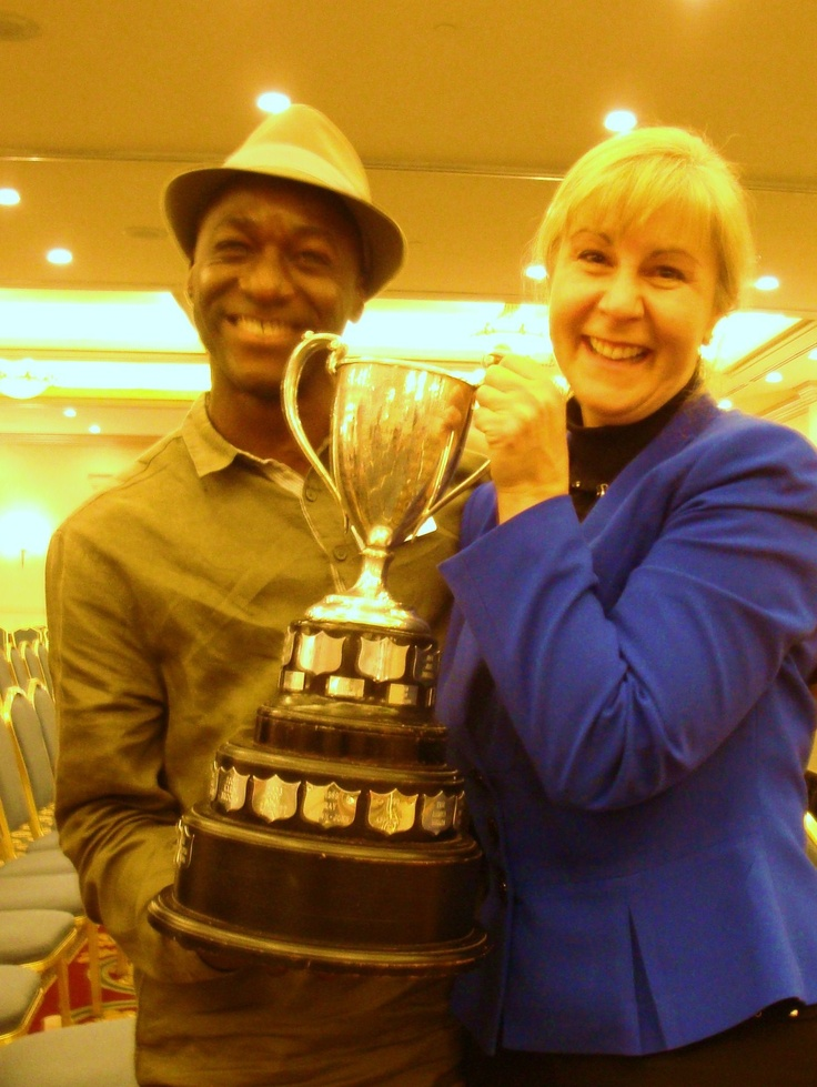 @ District 21 (BC, Canada) Toastmasters Spring Conference in Harrison Hot Springs with Mustapha Lansana, winner in 2011 and fellow member of ALL PRO Advanced Toastmasters. I will take GREAT care of this, Mustapha!