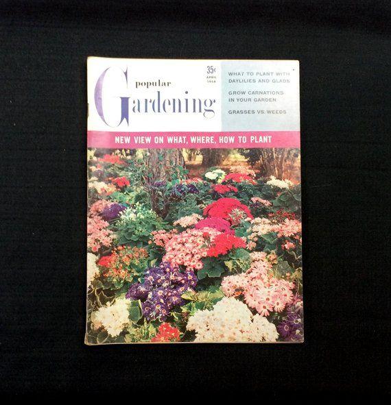 Popular Gardening Magazine April 1958 Volume 9 No 4 Vintage