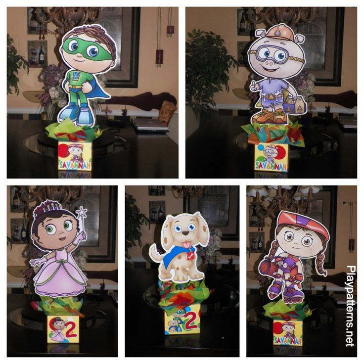 Super Why Birthday Party Centerpieces. Playpatterns.net