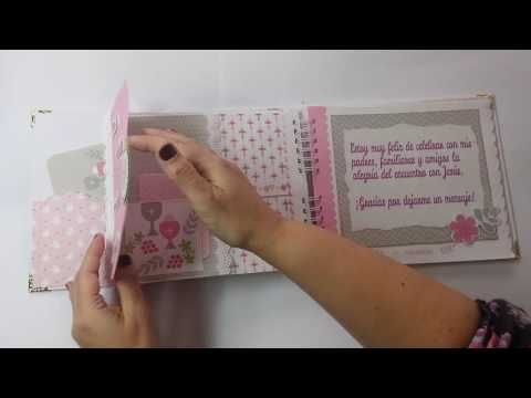 Álbum de fotos o libro de firmas? Para la Primera Comunión. Hecho con técnicas de scrapbooking. - YouTube
