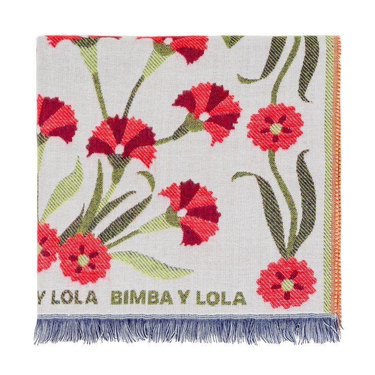 White flowers shawl | BIMBA Y LOLA ®