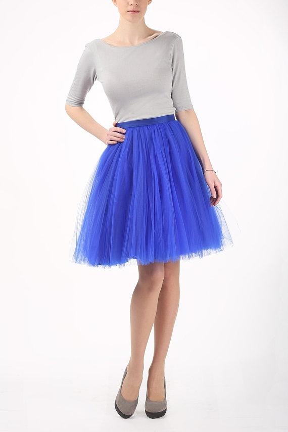 blue tutu tulle skirt cobalt petticoat tulle skirt