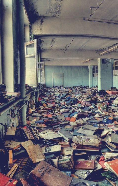 abandoned library, Russia. One of the saddest things I have ever seen.