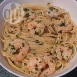 Fettuccine com camarão @ allrecipes.com.br