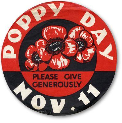 Poppy Day poster, mid-20th Century.