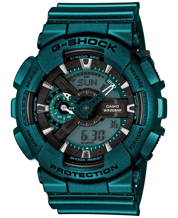 G-Shock Men's Analog-Digital Turquoise Bracelet Watch 55x51mm GA110NM-3A