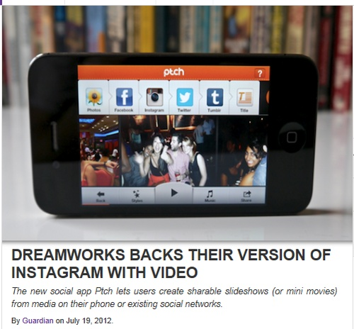 #Instagram + #Viddy + #Animoto = a new #app backed by #Dreamworks! Looks like another #mobile #application to help us with #SocialMedia #marketing is coming! Good luck :)