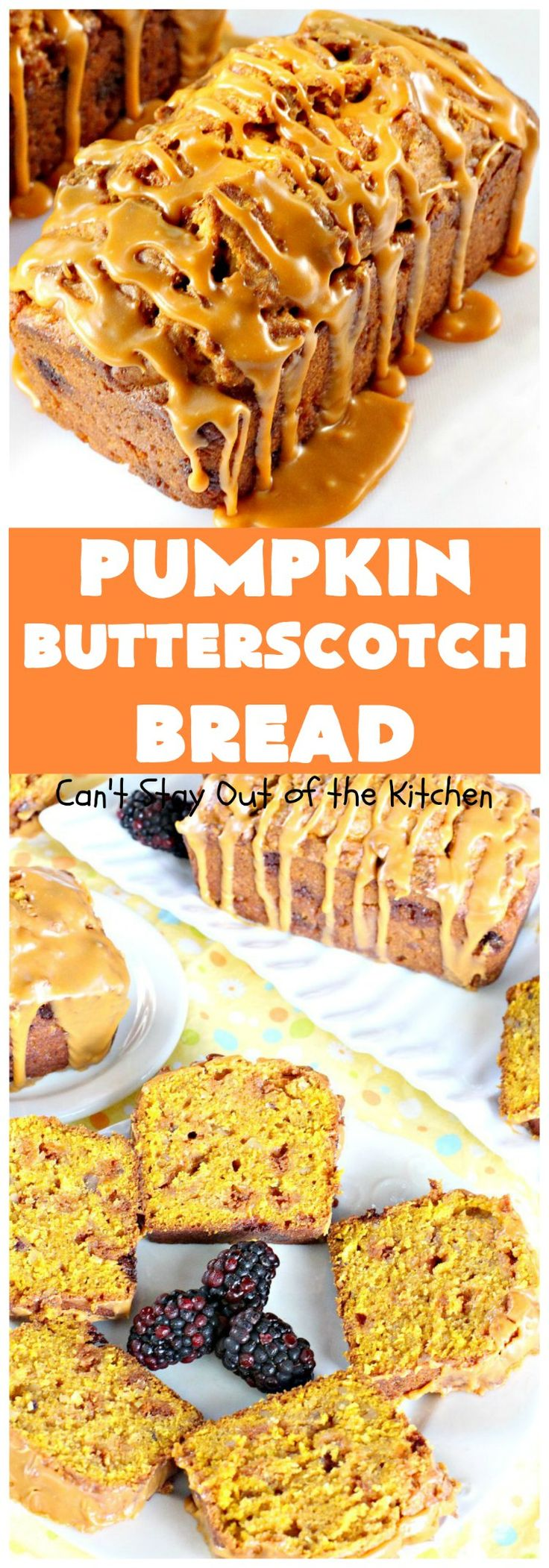 Pumpkin Butterscotch Bread