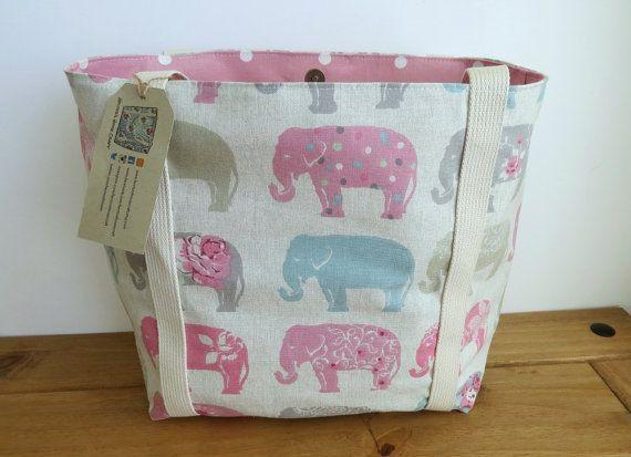 Elephant Tote Bag Handmade Handbag Project by HectorsHouseCraft
