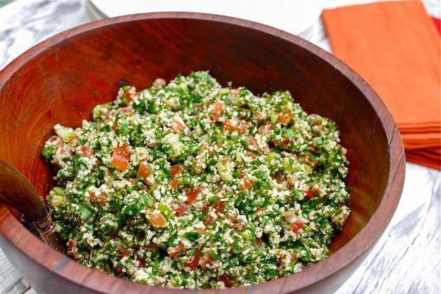 Raw Cauliflower Tabouli   Gluten Free Tabouli   Healthy Blender Recipes (So glad I found this...Tabouli was one is my favorite pre-Paleo salads)