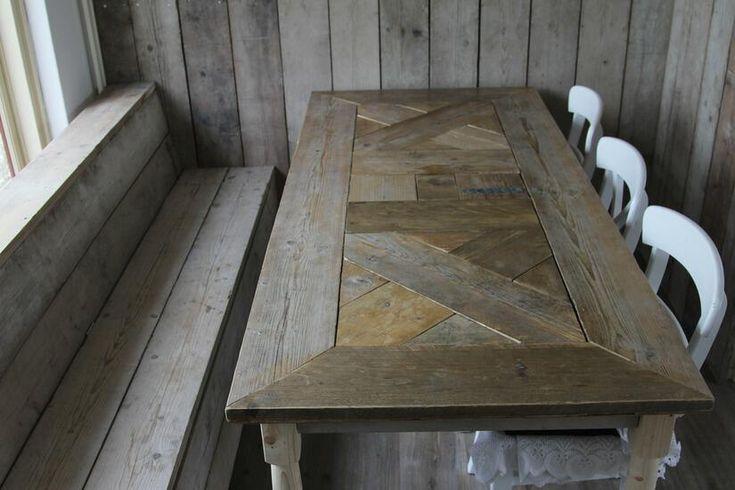 Steigerhout: Onwijs gaaf tafelblad gemaakt ...
