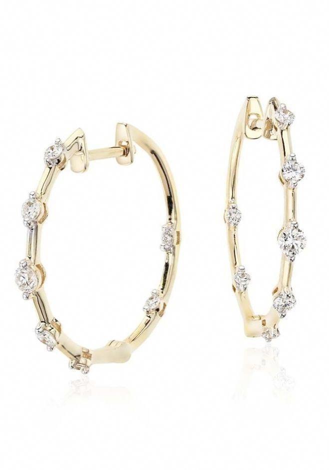 Hoop Earrings Designs Tiffany Diamond Inside Out Diamondhoopearrings
