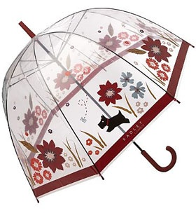 Radley umbrella with flowers & Scotty motifs