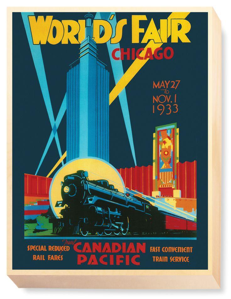TRV 067 Travel Art World's Fair Chicago