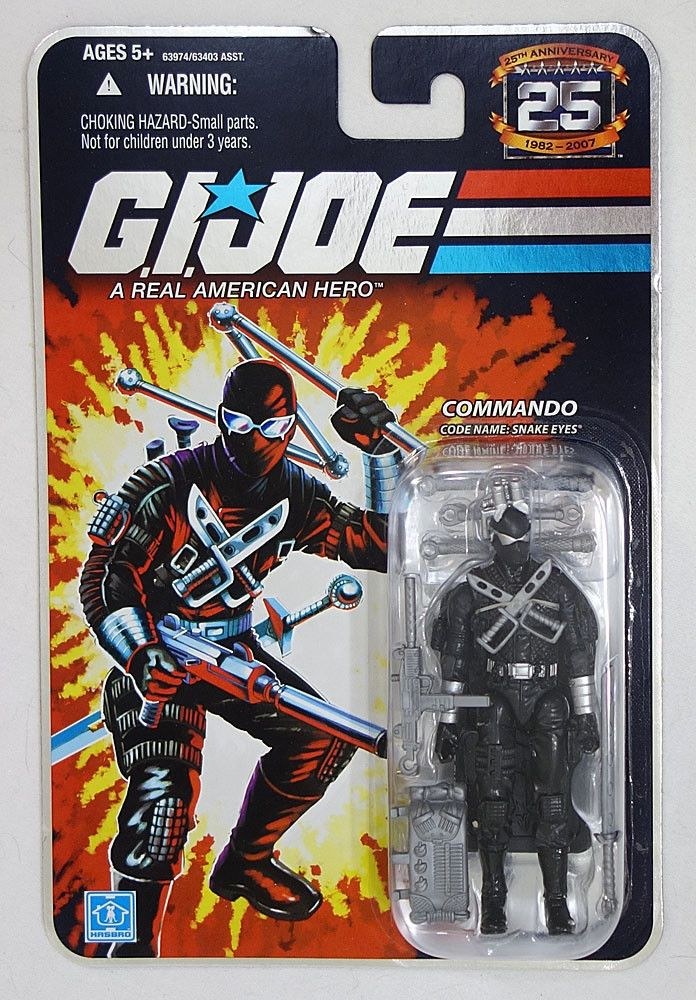 Snake Eyes Commando G.I JOE COBRA 25th Anniversary MOC Comic