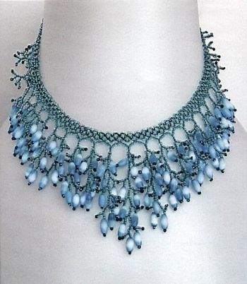 Blue Finge - schema and comments, but translate #Seed #Bead #Tutorials