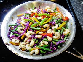 Honey Shrimp Stir Fry     Recipe: Lauren Buczkowski        What you will need:   This serves 4   1 lb Shrimp- peeled and devained   Good ol...