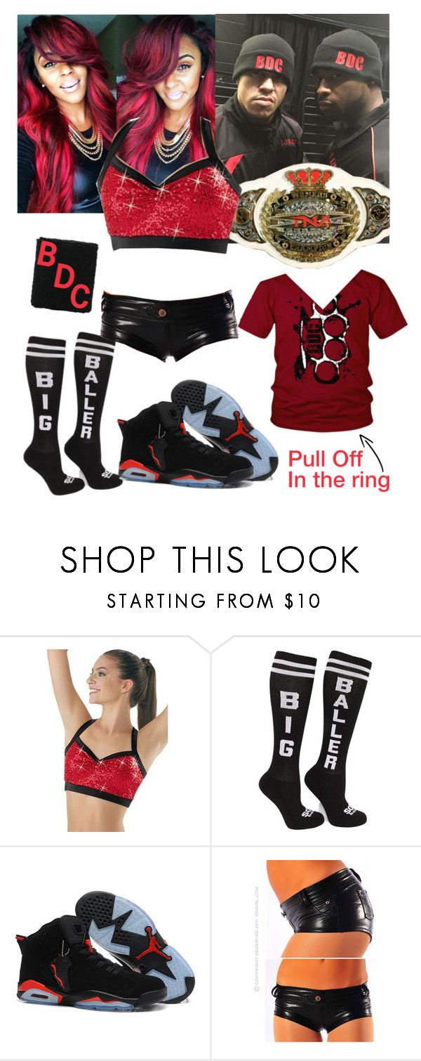 """TNA Impact Wrestling - Match with Kenny King and Low Ki at ringside"" by swaggwweforever ❤ liked on Polyvore featuring TNA, tna, impactwrestlig, lowki, beatdownclan and kennyking"