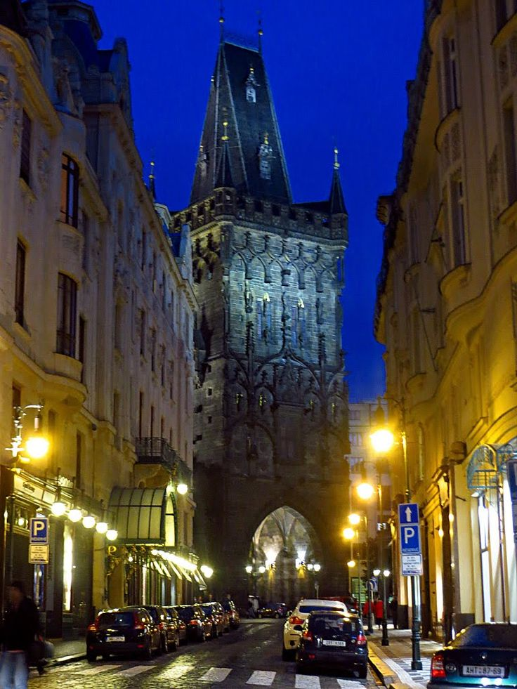 Prašná brána, Praha | The Powder Tower, Prague, Czech republic || Top Ten Favorite Attractions Guests can Walk to From the ARIA Hotel Prague: http://www.libraryhotelcollection.com/blog/top-ten-prague-attractions/ #Praha #Prague #BookLHC