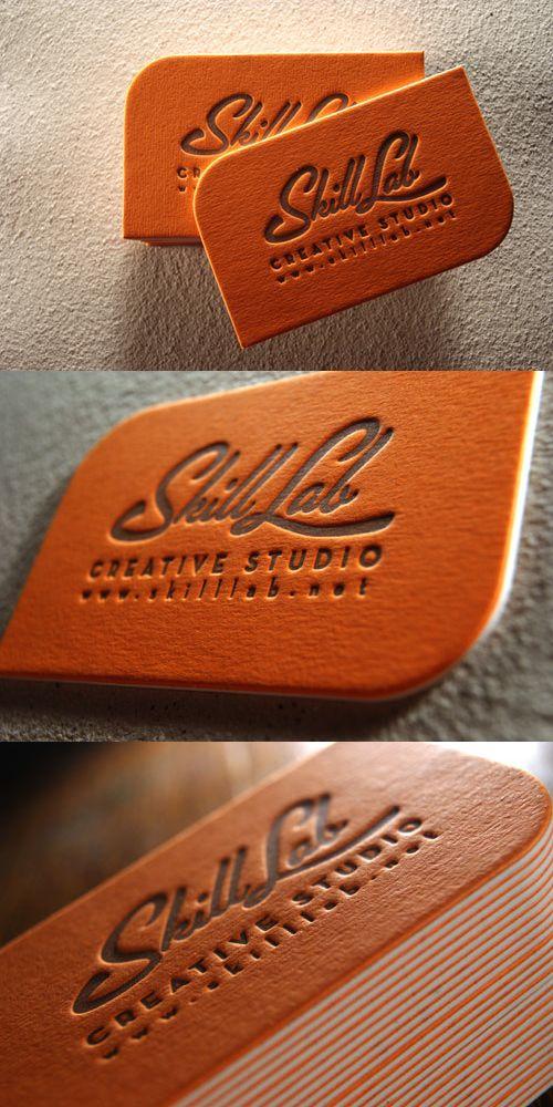 Bold orange letterpress designed by Lettera Magica and made for Creative Studio Skill Lab