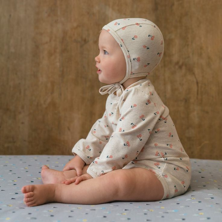 Organic Stretch Jersey Cotton Bonnet | Nature Baby