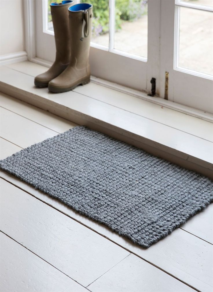 Accessorise your interior with the rustic Doormat in our soft Charcoal colourway. Crafted in natural Jute, the woven detailing is beautiful and more organic in appearance to alternative coir mats. Whereas our traditional doormats suit the muddy traffic of wellies, this is a more stylish way to greet guests on arrival.