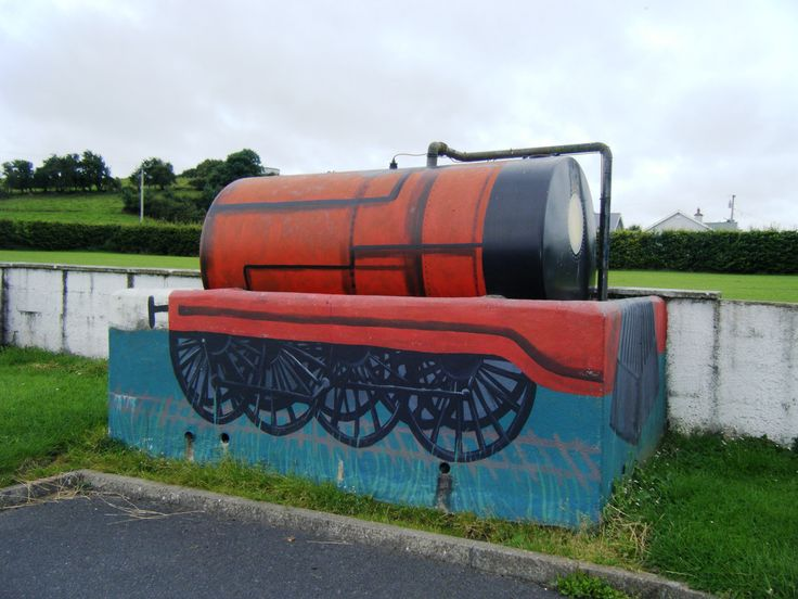 Errill, Co. Laois  Novel way to disguise oil tank, in school yard