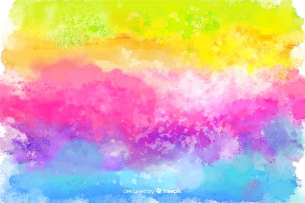 Rainbow In Tie Dye Style Background Free Vector Free Vector