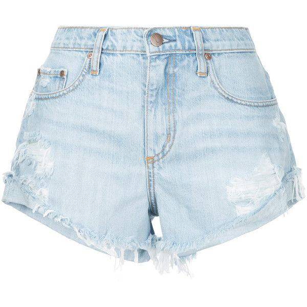 Nobody Denim Boho Short Fray Wink ($149) ❤ liked on Polyvore featuring shorts, blue, blue shorts, relaxed fit shorts, cuffed shorts, nobody denim and blue short shorts