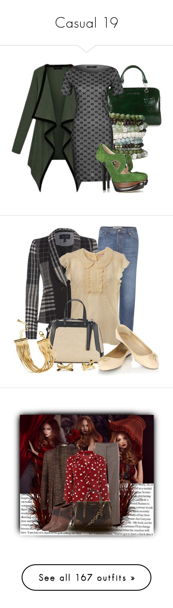 """""""Casual 19"""" by ericmyri ❤ liked on Polyvore featuring CO, Armani Jeans, Cousin Claudine, TURNOVER, Fendi, Marni, Miss Selfridge, Oasis, Kate Spade and H&M"""