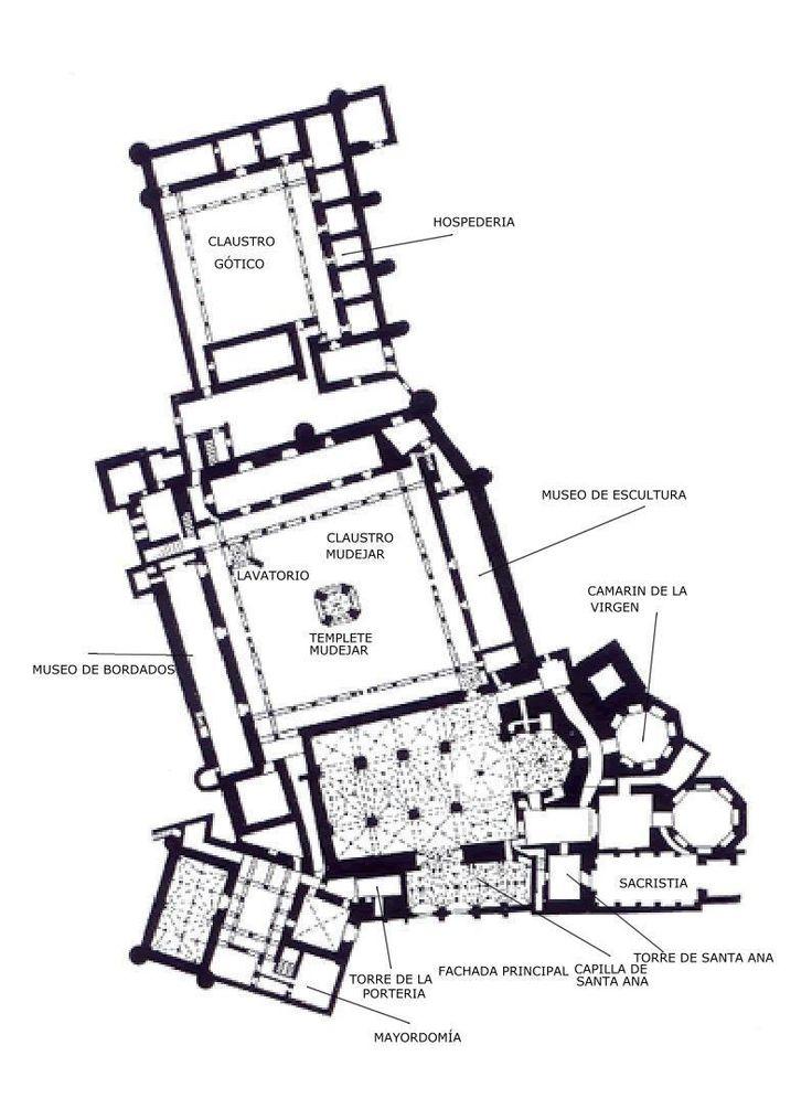 Black & White Plans [39] Real Monasterio de Santa María de Guadalupe via