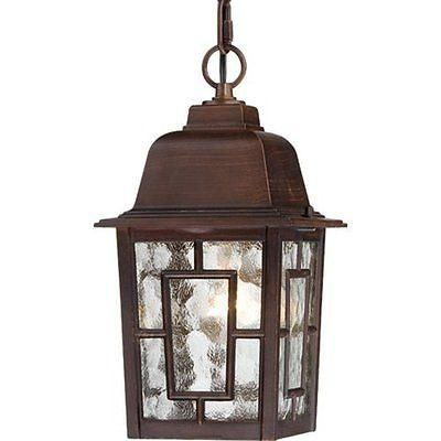 "$39 Irwin  $39 nuvo 60-4932 - 11"" Outdoor Hanging Light in Rustic Bronze Finish"