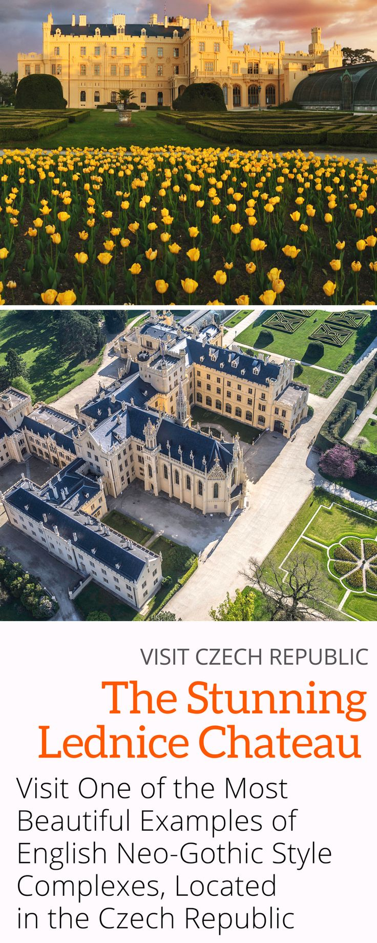 Visit Lednice Chateau and see marvellous representative halls, private rooms of the princely family, children's rooms and a haunted cave! Only a few hours from Prague in the Czech Republic!