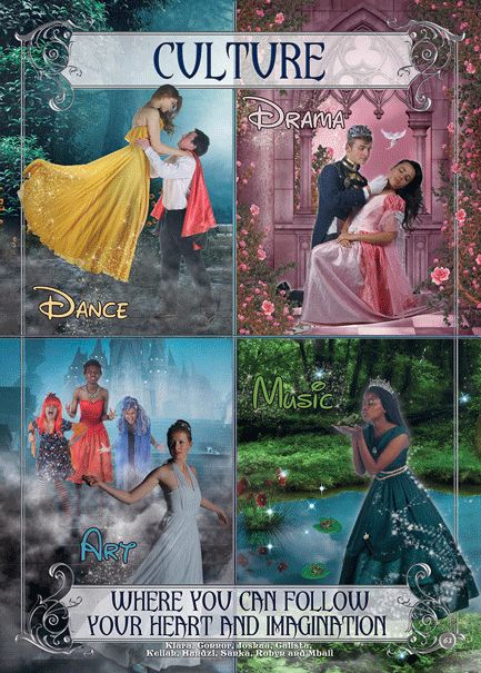 Fairy Tale Yearbook Theme: Cultural Leader Page